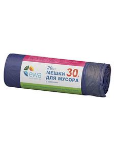 Мешки для мусора 30л. 20шт. с завязками EWA