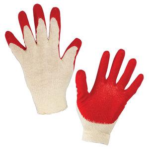 Перчатки хлопчатобумажные, износостойкие одинарный латексный облив, 13 класс LAIMA ЛЮКС