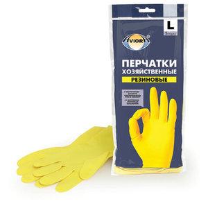 Перчатки хозяйственные латексные хлопчатобумажное напыление AVIORA