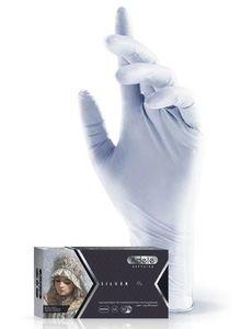 Перчатки нитриловые Adele(серебряные)
