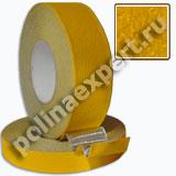 Алюминиевая абразивная противоскользящая лента Желтая КРУПНАЯ зернистость