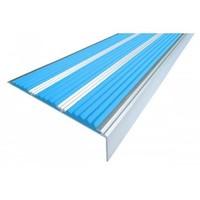 Алюминиевый профиль угловой с 3-мя рез. вставками (Ступень 98 мм)