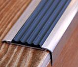 Угол-порог алюминиевый с резиновой вставкой (Евроступень АУ-50)