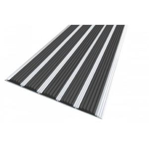 Алюминиевый профиль против скольжения с 5 резиновыми вставками (полоса 162 мм)