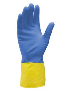Хозяйственные перчатки сине-желтые особопрочные