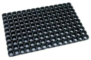 Резиновое грязезащитное покрытие ДОМИНО 1000*1000*23 мм