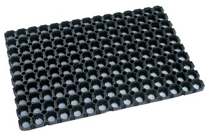 Резиновое грязезащитное покрытие ДОМИНО 1000*1500*16 мм