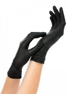 Перчатки нитриловые NitriMax (черные, размер S)