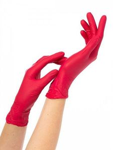Перчатки нитриловые NitriMax (красные, M)