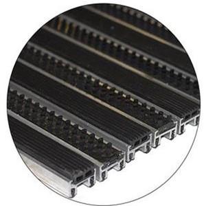 """Алюминиевые решетки с грязезащитными вставками """"Status"""" 23 мм (резина+щетка)"""
