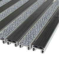 """Алюминиевые решетки с грязезащитными вставками """"Status"""" 20 мм (резина+ворс)"""