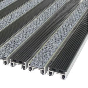 """Алюминиевые решетки с грязезащитными вставками """"Status"""" 26 мм (резина+ворс)"""