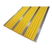 Алюминиевый профиль против скольжения с тремя резиновыми вставками (Полоса 100 мм)