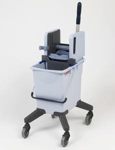 Тележка уборочная VILEDA 25 л с вертикальным отжимом, на колесах (без транспортировочной ручки)