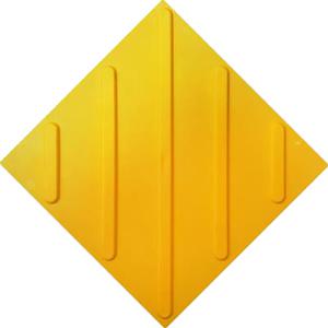 Тактильная плитка ПВХ (диагональ)