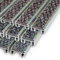 """Алюминиевые решетки с грязезащитными вставками """"Status"""" 20 мм (ворс)"""
