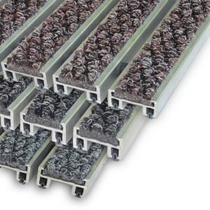 """Алюминиевые решетки с грязезащитными вставками """"Status"""" 26 мм (ворс)"""