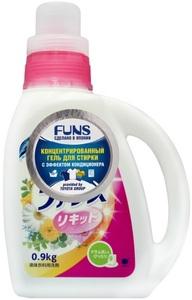 Концентрированное жидкое средство для стирки 2 в 1 с ароматом цветов Fans(Япония)